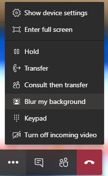 Meeting configuration menu