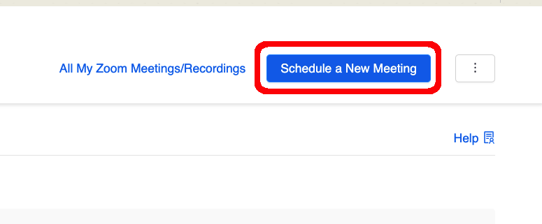 blue schedule a new meeting button