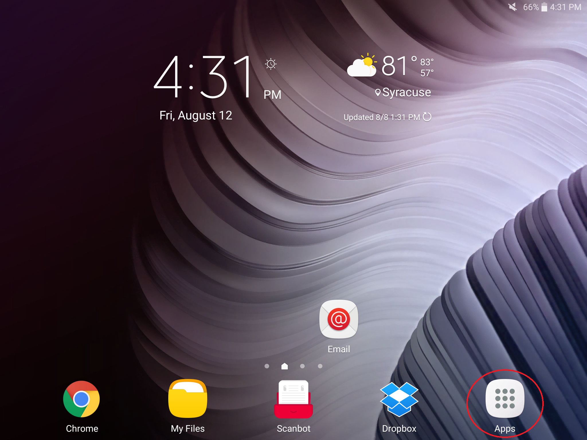 Image Android 6.0 Marshmallow home screen
