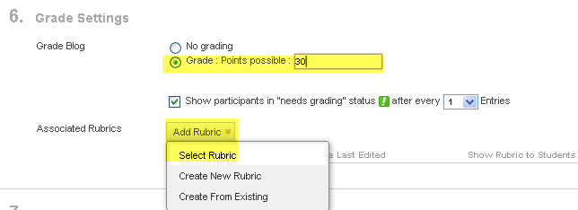 attaching a rubric to a graded discussion