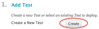 create new test button