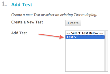 creating link to blackboard test