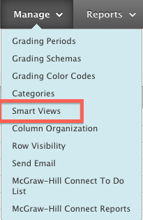 Manage Menu, Select Smart View