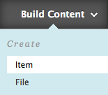 image of Build Content button
