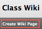 create Wiki page button