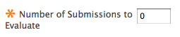 enter number of submissions to evaluate