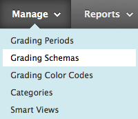 Manage Menu, Grading Schemas