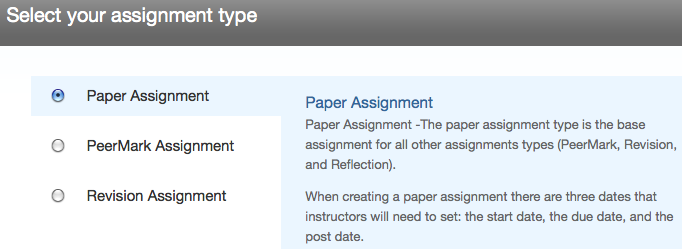 Assignment Type