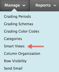 Manage Menu, Select Smart Views