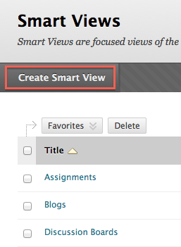 Select Create Smart View