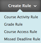 Create Rule Menu