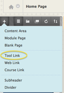 Add Tool Link to Course Menu