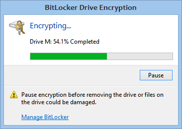 how to use bitlocker to encrypt external hard drive