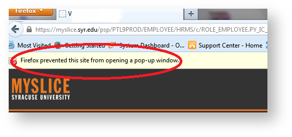 Firefox popup prevention window
