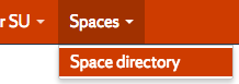 Spaces Expanded showing Space Directory Option
