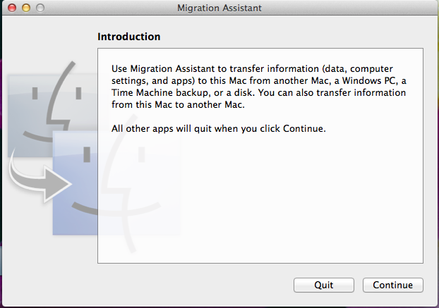 transfer user data one mac another