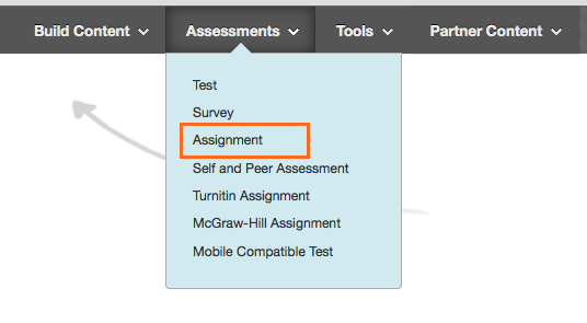 Create Assessment - Assignment
