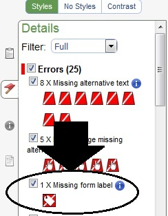 Missing Form Labels Error