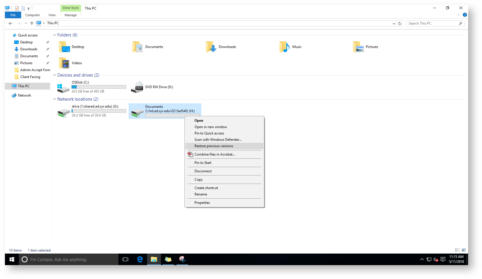 File explorer window