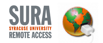 globe symbol with ethernet sura syracuse university remote access