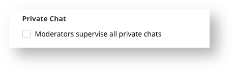 Private Chat Option