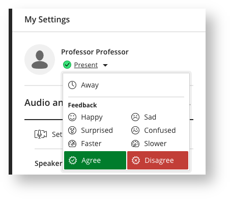 Discussion Feedback Settings