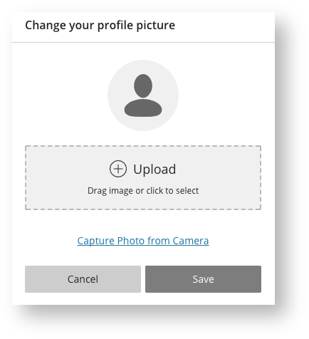 Change Profile Picture Settings Screen