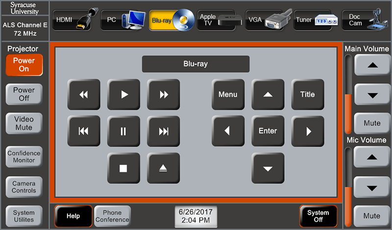 Figure 2_Touch Panel_DVD Controls