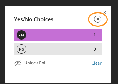 Unlock and Clear Poll