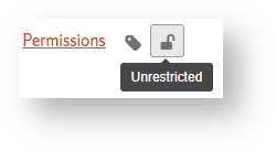 Depicts the Permissions button, located on the secondary editing toolbar.