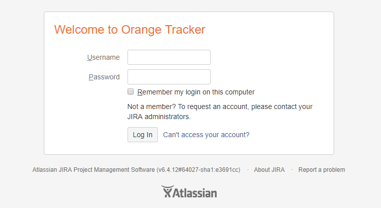 orange tracker login