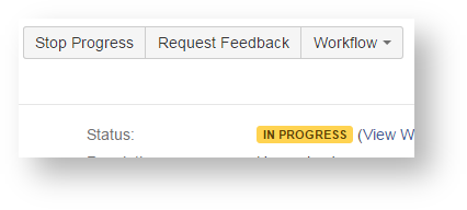 In Progress Status showing that Stop Progress button is now available