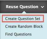 Reuse question, create question set link