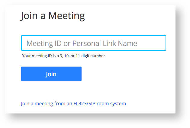 join a meeting ID window