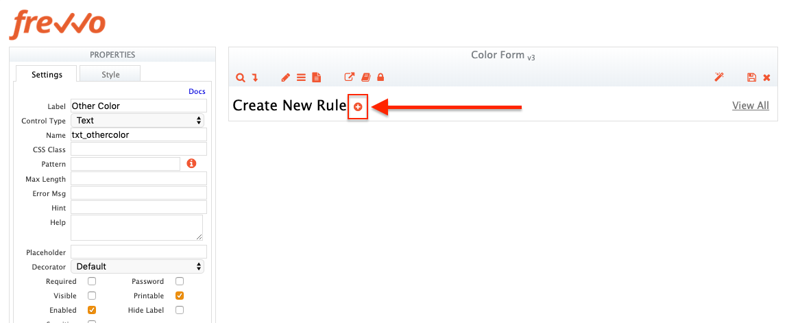 Add New Rule Button Image