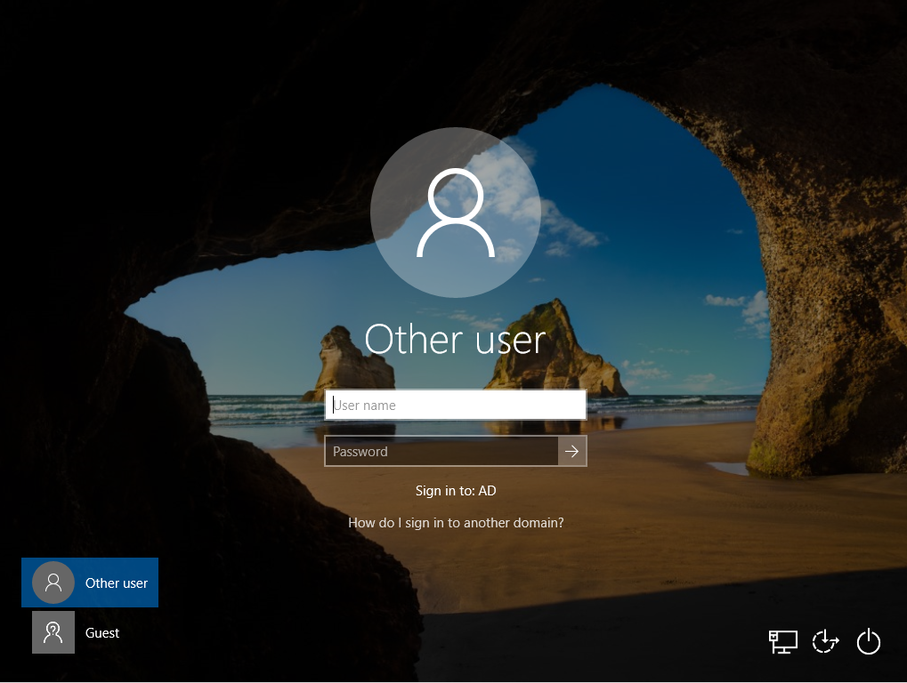 other user windows 10 log in