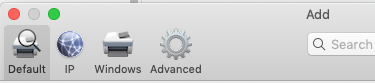Customize Toolbar in Printers and Scanners System Preferences Pane