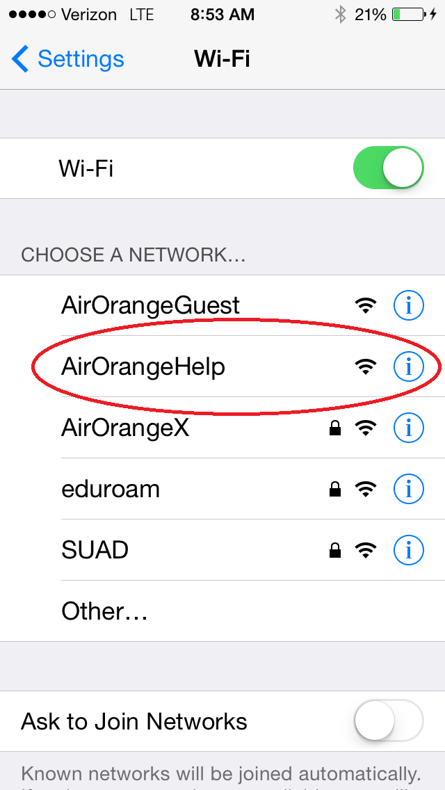 IPhone Select AirOrangeHelp