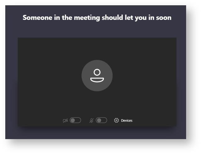 The Teams meeting host will let you into the meeting soon