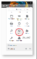 firefox top right menu with options circled