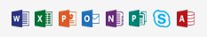 Symbol for each microsoft office program