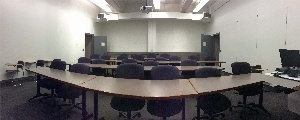 Panorama of Shaffer 221D from front of room to rear
